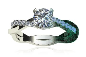 3D CAD Customized Engagement Ring