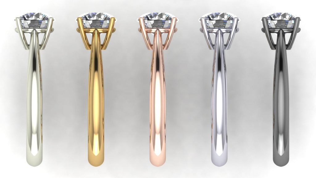 18K Gold Types - Yellow Gold, Rose Gold, White Gold