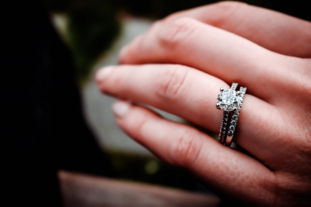 Engagement Ring Paired with Wedding Band - Draco Diamonds