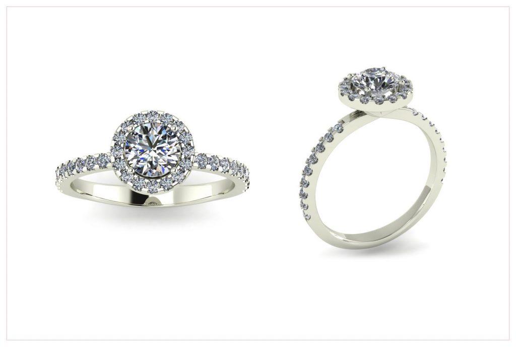 Halo Setting Engagement Ring - Draco Diamonds