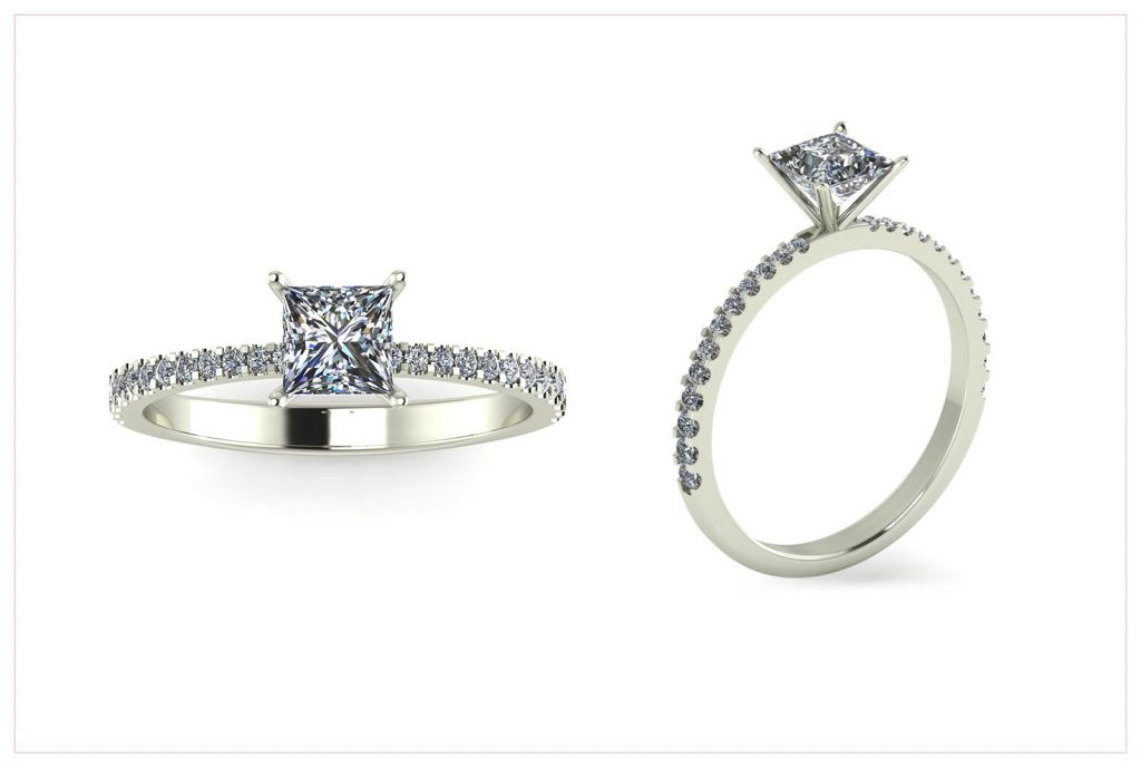 Princess Cut Engagement Ring - Draco Diamonds