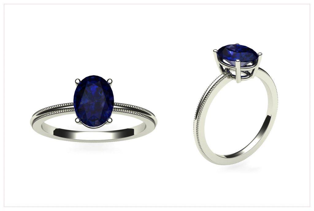 Sapphire Engagement Ring - Draco Diamonds