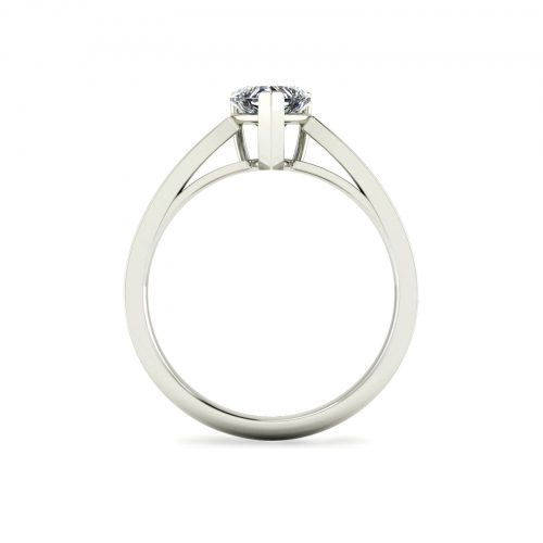 Fancy Love Engagement Ring (Through View) - Draco Diamonds