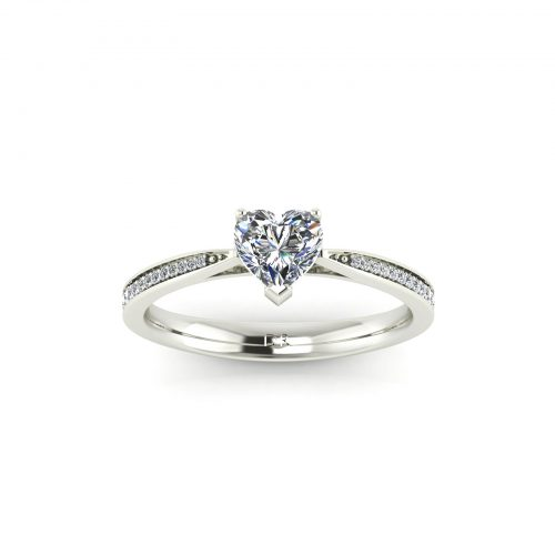 Fancy Love Engagement Ring (Top View) - Draco Diamonds