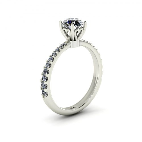 Tapered Draco Engagement Ring (Perspective View) - Draco Diamonds