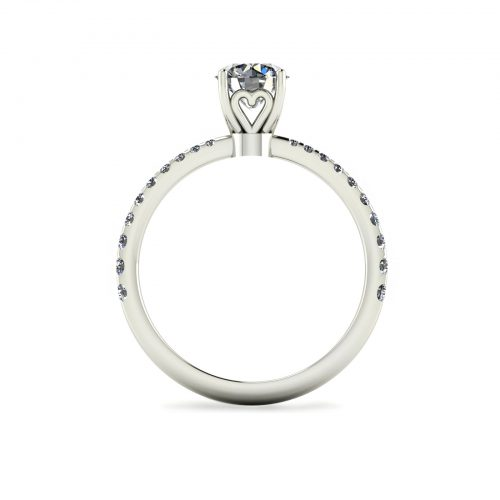 Tapered Draco Engagement Ring (Through View) - Draco Diamonds
