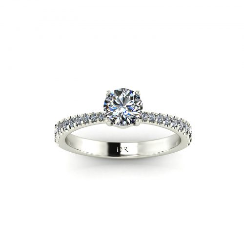 Tapered Draco Engagement Ring (Top View) - Draco Diamonds