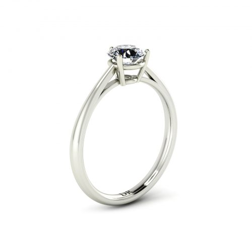 3-Prong Solitaire Engagement Ring (perspective view) - Draco Diamonds