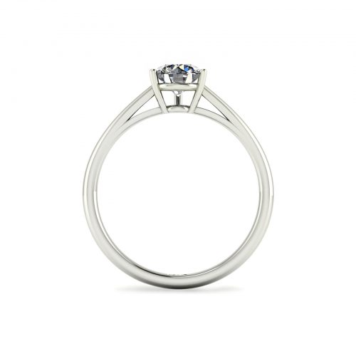 3-Prong Solitaire Engagement Ring (through view) - Draco Diamonds