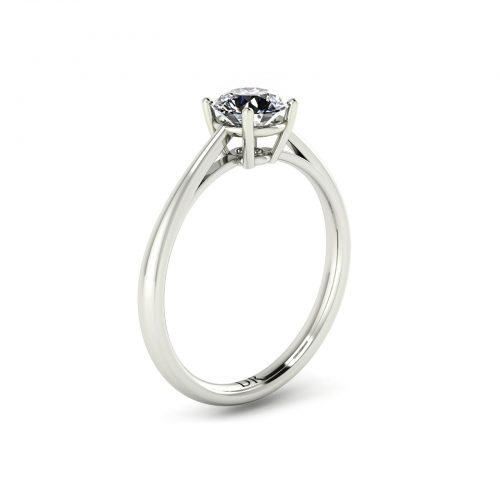 4-Prong Solitaire Engagement Ring (Perspective View) - Draco Diamonds