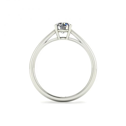 4-Prong Solitaire Engagement Ring (Through View) - Draco Diamonds
