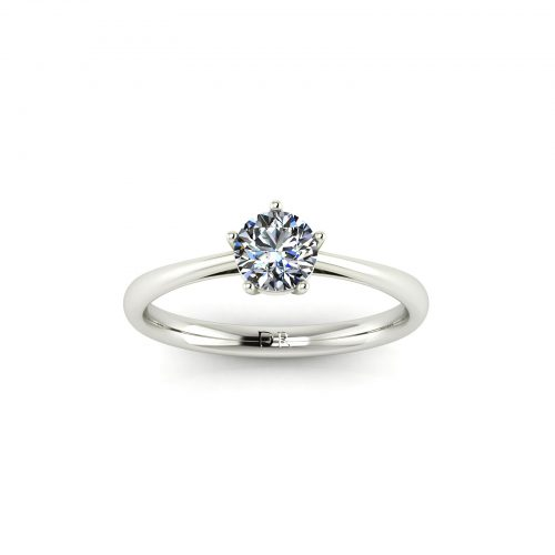 5-Prong Solitaire Engagement Ring (Top View) - Draco Diamonds