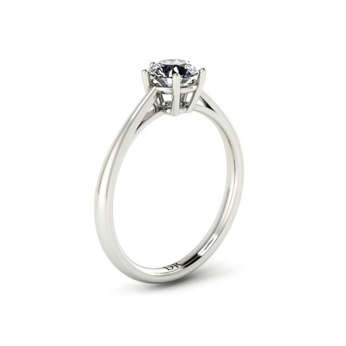 5-Prong Solitaire Engagement Ring (Perspective View) - Draco Diamonds