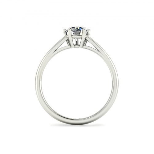 5-Prong Solitaire Engagement Ring (Through View) - Draco Diamonds