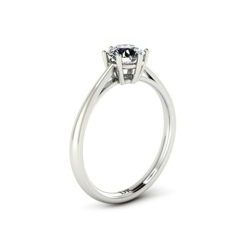 6-Prong Solitaire Engagement Ring (Perspective View) - Draco Diamonds