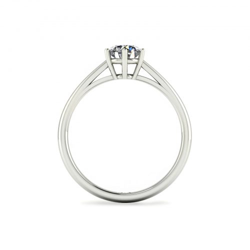6-Prong Solitaire Engagement Ring (Through View) - Draco Diamonds