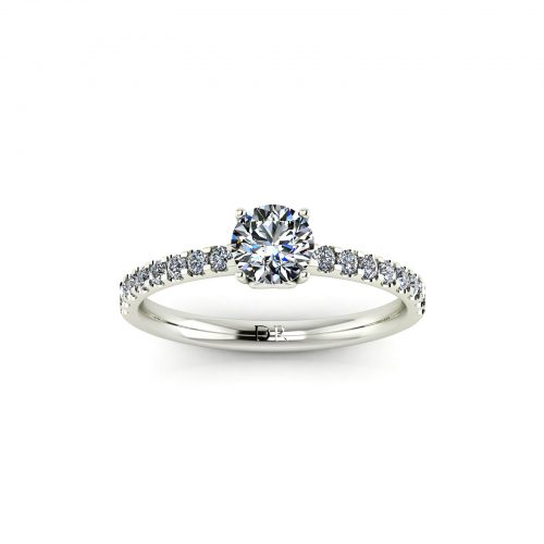 Draco Engagement Ring (top view) - Draco Diamonds