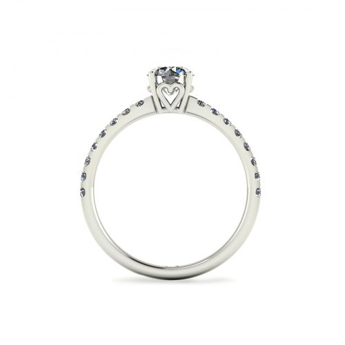 Draco Engagement Ring (through view) - Draco Diamonds