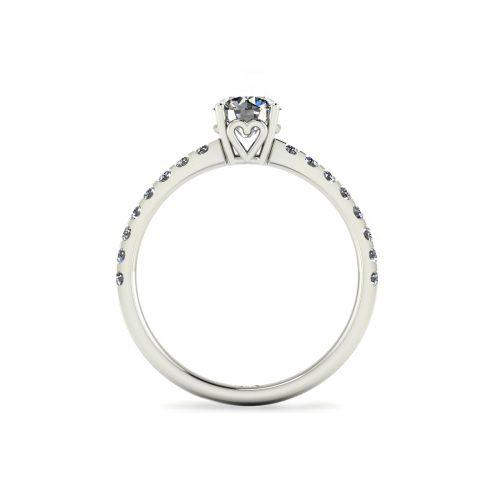Draco Engagement Ring (through view) - Draco Diamonds