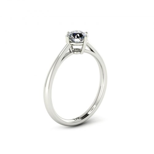 Solitaire Compass Engagement Ring (Perspective View) - Draco Diamonds