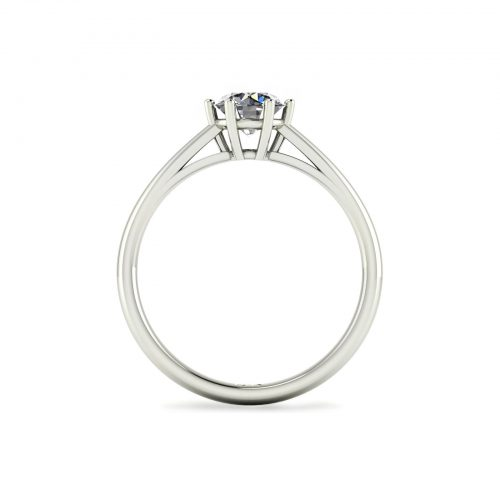 Modified 6-Prong Solitaire Engagement Ring (Through View) - Draco Diamonds