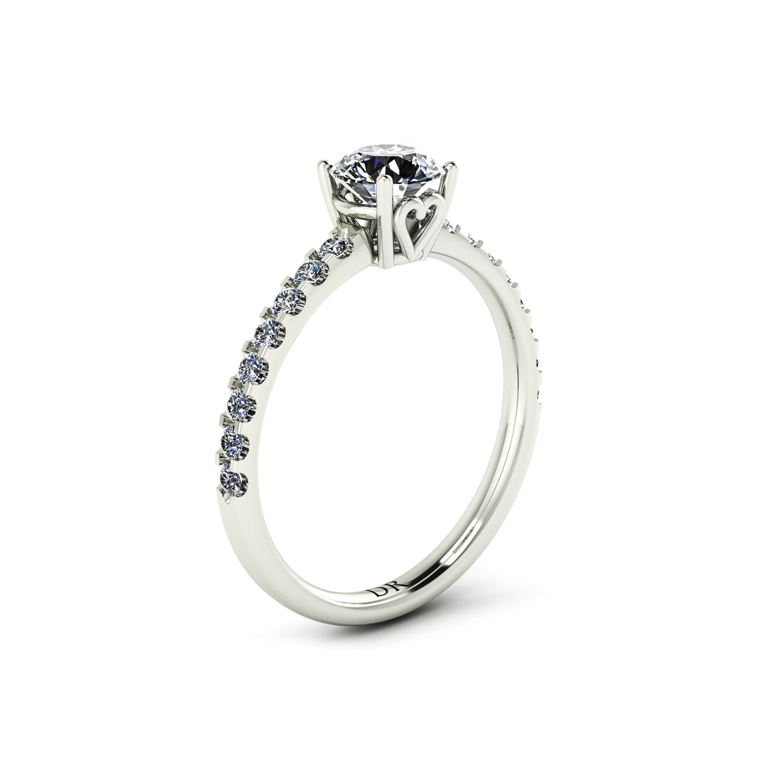 Draco Engagement Ring (perspective view) - Draco Diamonds
