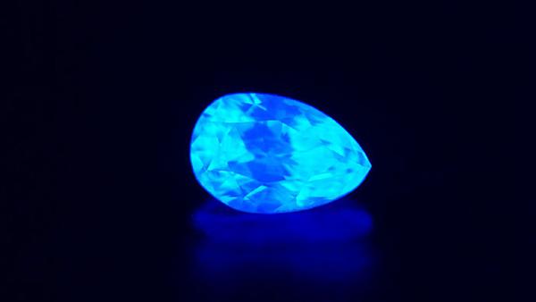 Diamond Fluorescence - Blue
