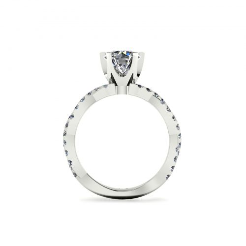 Entwine Crown Engagement Ring (Through View) - Draco Diamonds