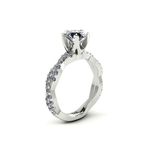 Entwine Crown Engagement Ring (Perspective View) - Draco Diamonds
