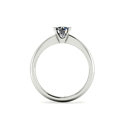 Tapered 4-Prong Solitaire Engagement Ring (Through View) - Draco Diamonds