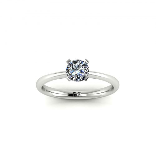 Tapered 4-Prong Solitaire Engagement Ring (Top View) - Draco Diamonds