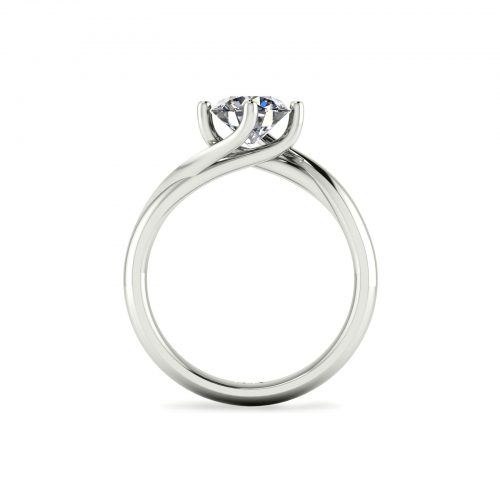 Twirl-Prong Solitaire Engagement Ring (Through View) - Draco Diamonds