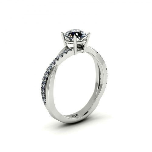 Classic Entwine Engagement Ring (Perspective View) - Draco Diamonds