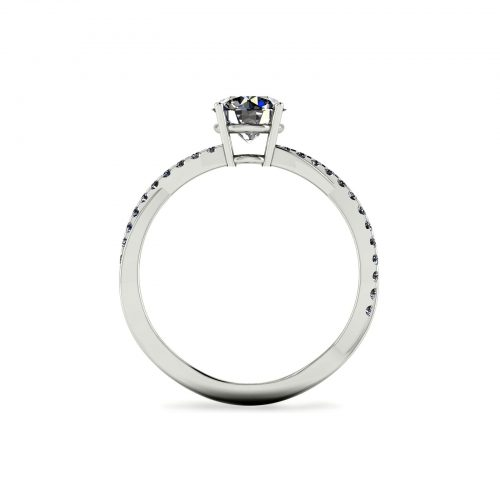 Classic Entwine Engagement Ring (Through View) - Draco Diamonds
