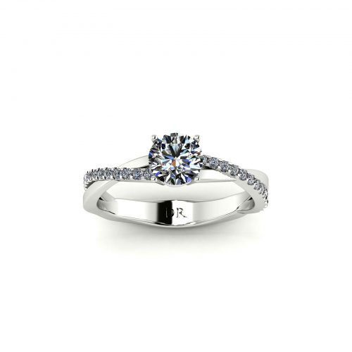 Classic Entwine Engagement Ring (Top View) - Draco Diamonds