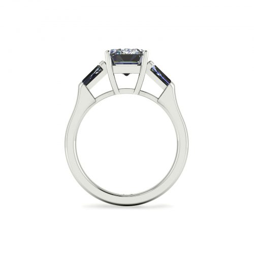 Emerald-cut Engagement Ring (Through View) - Draco Diamonds