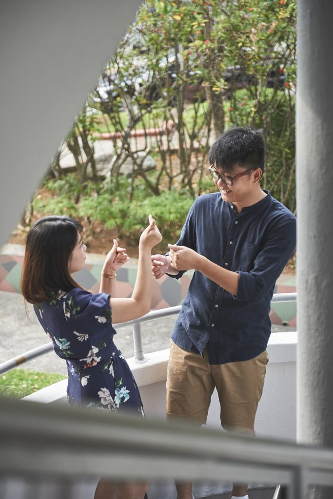 A Love Story - The Cute and the Lovable [Beatrice and Guo Wei] - The heart shape hand
