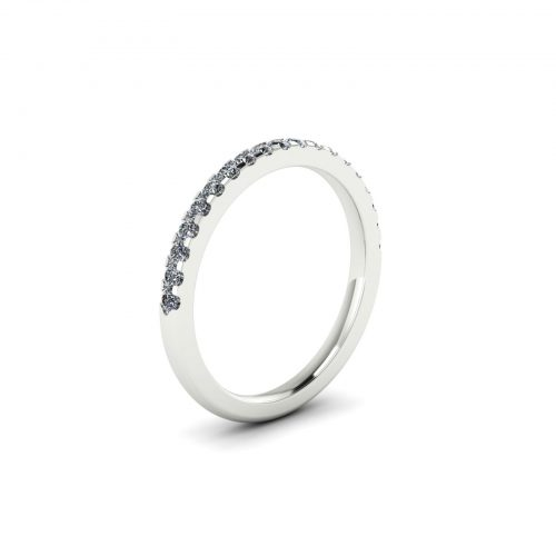 Half Eternity Wedding Band 1.7mm (Perspective View) - Draco Diamonds