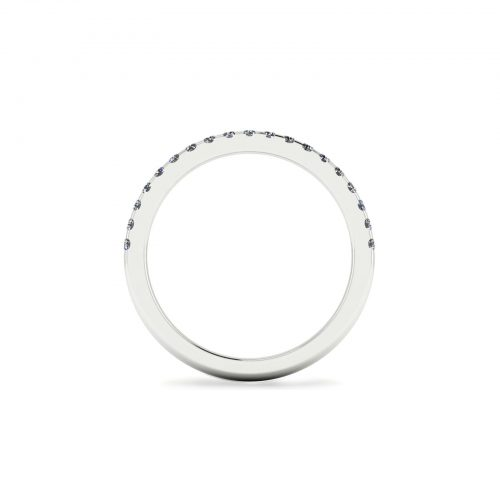 Half Eternity Wedding Band 1.7mm (Through View) - Draco Diamonds