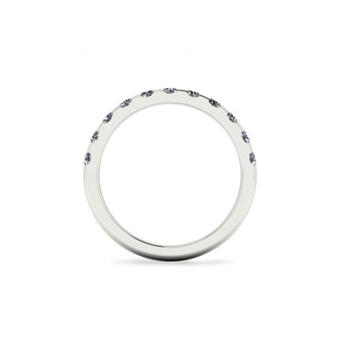 Half Eternity Wedding Band 2.7mm (Through View) - Draco Diamonds