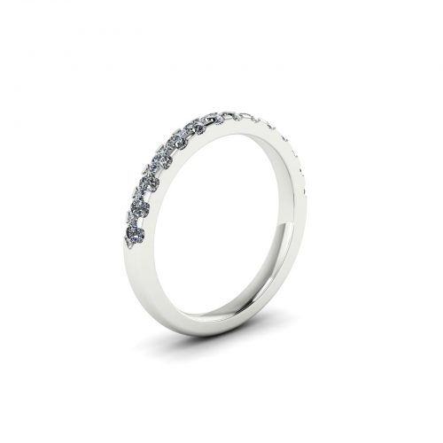 Half Eternity Wedding Band 2.2mm (Perspective View) - Draco Diamonds