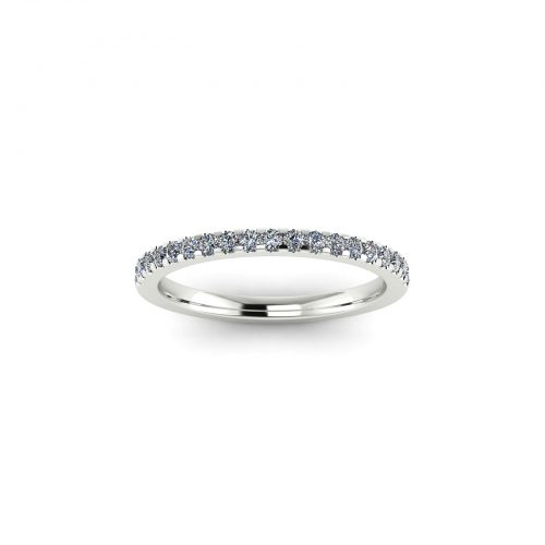 Half Eternity Wedding Band 1.7mm (Top View) - Draco Diamonds