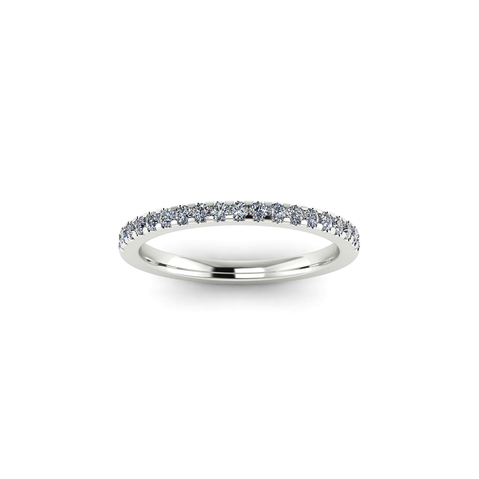 Half Eternity Wedding Band 1.7mm (Top View) - Draco Diamonds