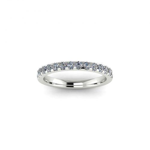 Half Eternity Wedding Band 2.2mm (Top View) - Draco Diamonds