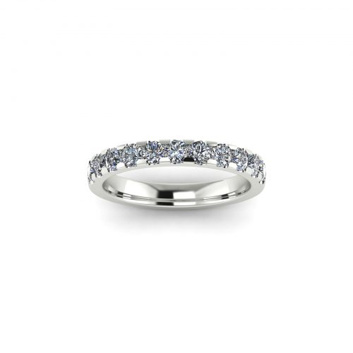Half Eternity Wedding Band 2.7mm (Top View) - Draco Diamonds