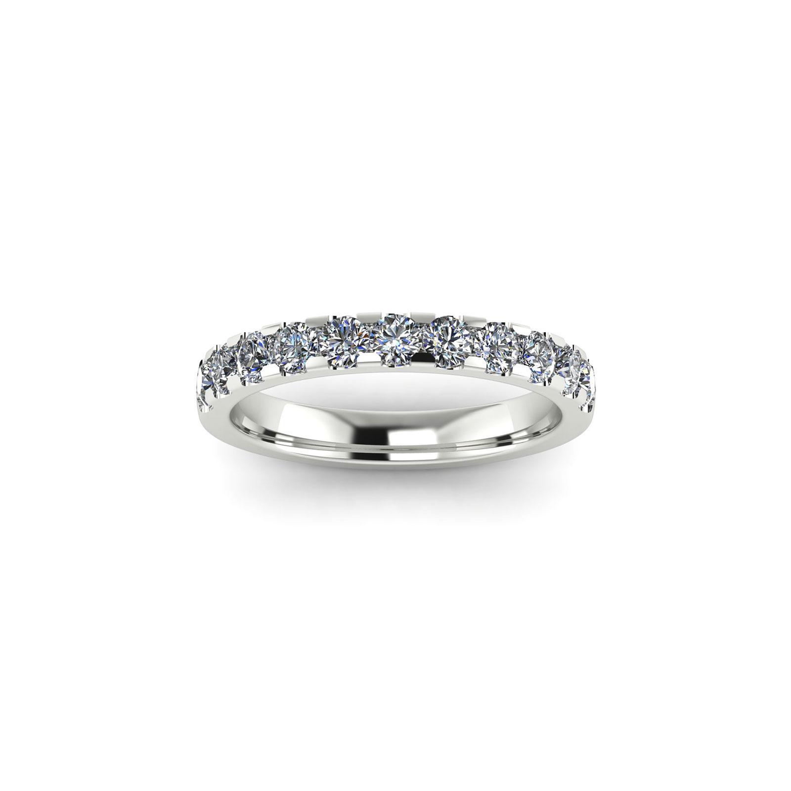 Half Eternity Wedding Band 2.7mm (Top View) - Draco Diamonds