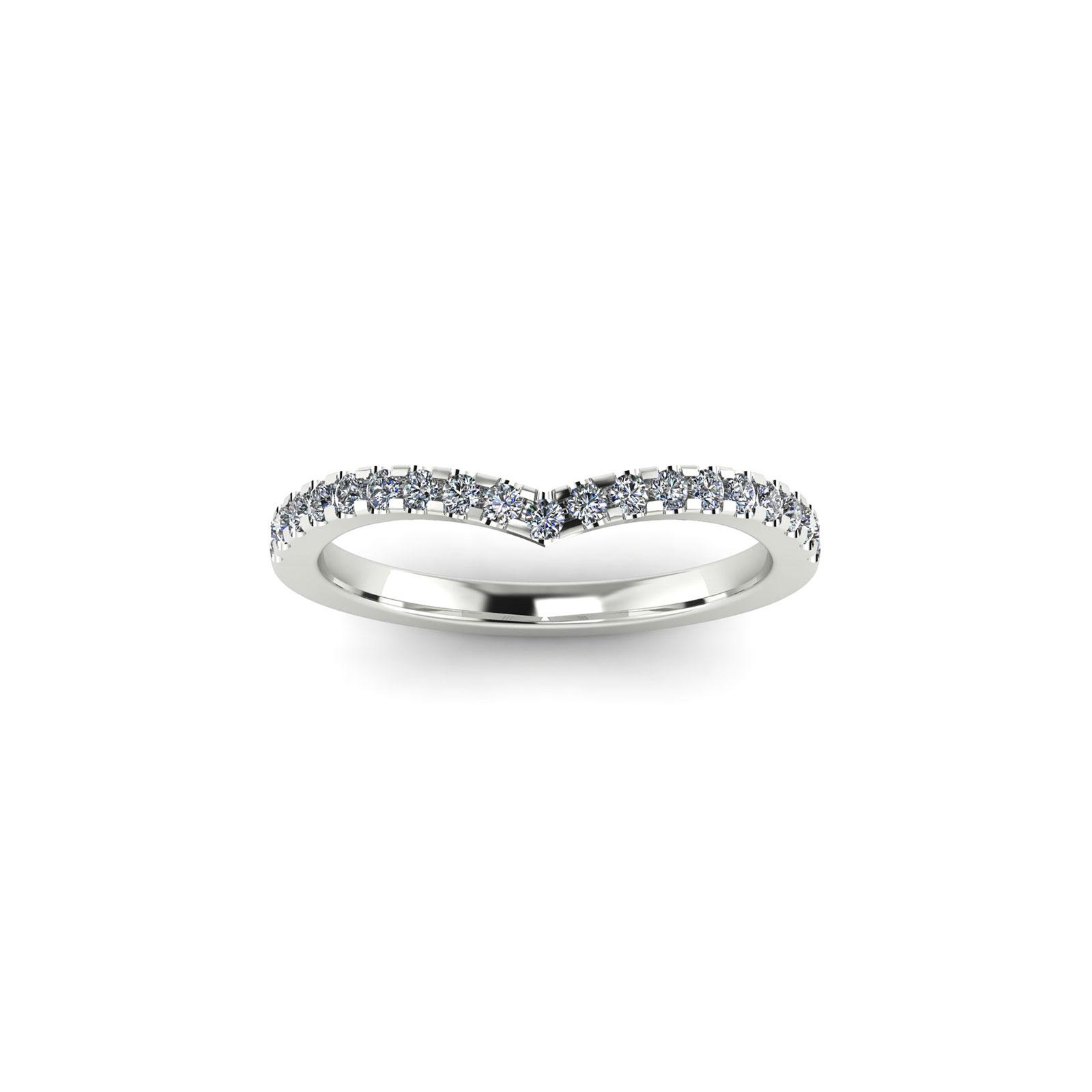 V-Eternity Wedding Band (Top View) - Draco Diamonds