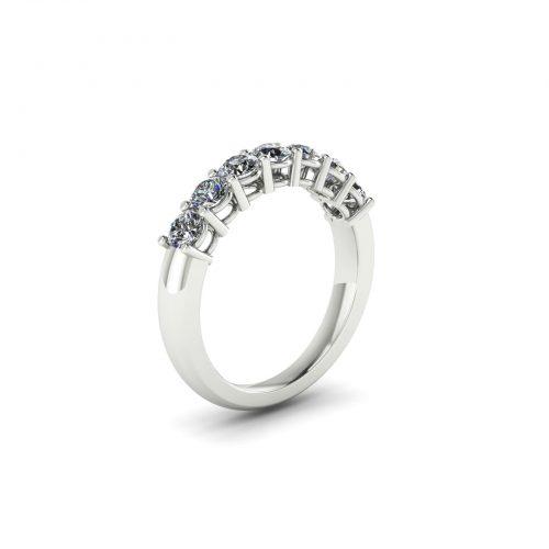 Queen Eternity Wedding Band (Perspective View) - Draco Diamonds