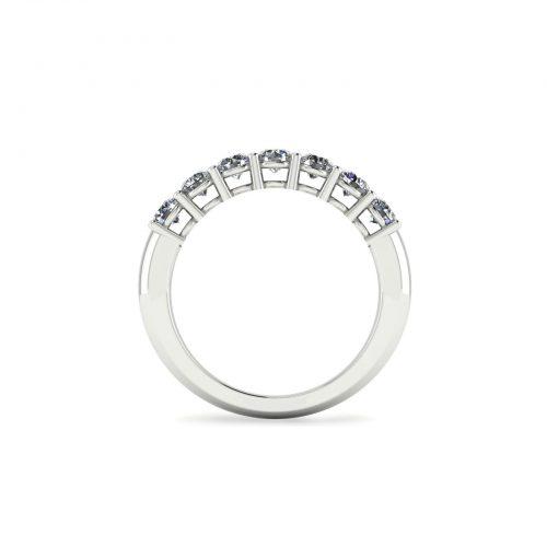 Queen Eternity Wedding Band (Through View) - Draco Diamonds