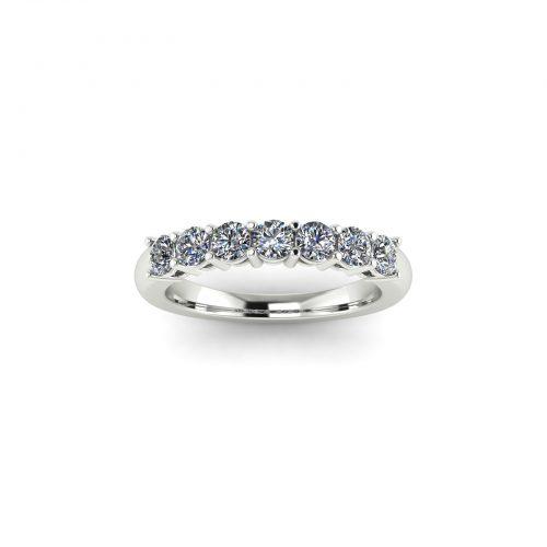 Queen Eternity Wedding Band (Top View) - Draco Diamonds